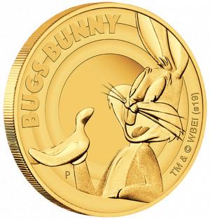 Zlatá mince Looney Tunes Bugs Bunny 1/4 oz proof 2019