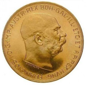 100 korun-František Josef  I. Au