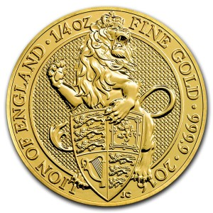 The Queen's Beasts 2016 – The Lion - 1/4 Oz Au