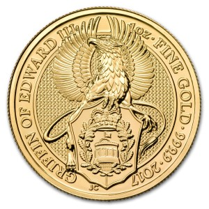 The Queen's Beasts - Griffin of Edward III. - 1 oz Au