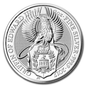 The Queen's Beasts - Griffin of Edward III. - 2 oz Ag