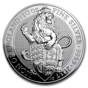 Stříbrná mince The Queen's Beasts Lion 10 oz