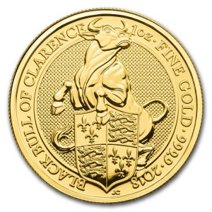 The Queen's Beasts 2018 – Býk z Clarence - 1 Oz Au