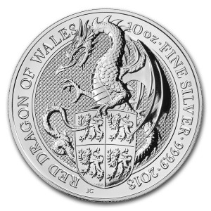 The Queen's Beasts - Red Dragon - 10 oz Ag