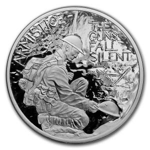 První světová válka, příměří 1918, 5 Oz Ag Proof