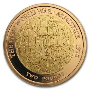 První světová válka, příměří 1918, 1/2 Oz Au Proof