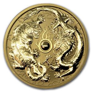 Zlatá mince Drak a Tygr 1 oz BU 2019