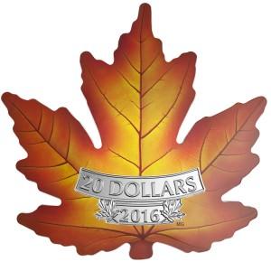 Maple Leaf 1 Oz Ag vyřezávaný 2016