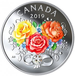 Stříbrná mince Čistá láska Swarovski krystal proof 2019