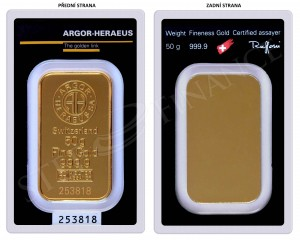 Argor-Heraeus 50 gramů