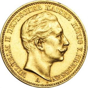 20 Marka Vilém II.