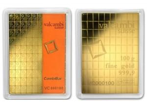 CombiBar Valcambi 100 gramů Au