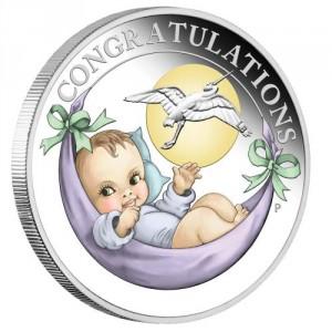 Stříbrná mince narození dítěte 1/2 oz proof 2019