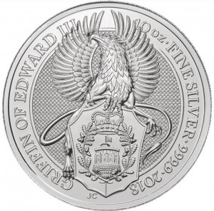 The Queen's Beasts - Griffin of Edward III. - 10 oz Ag
