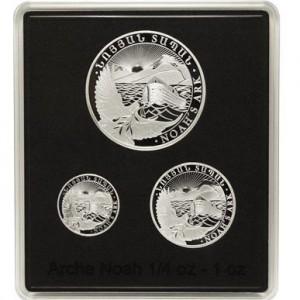 Sada 3 mincí Noemova archa 1,75 Oz Ag 2016
