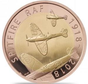 Spitfire RAF 2018 1/2 Oz Au