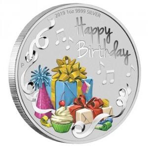 Stříbrná mince k narozeninám 1 oz proof 2019