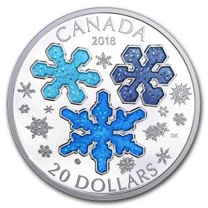 Stříbrná mince Křišťálová hvězda 1 oz proof 2018